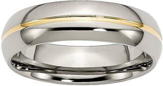 MODERN BRIDE Mens 6mm Titanium & Ion-Plated Wedding Band