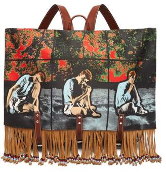 J.W.Anderson X Gilbert & George Print Canvas Backpack - Womens - Multi