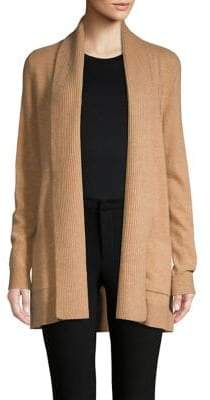 Lord & Taylor Open-Front Cashmere Cardigan