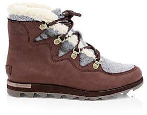 Sorel Women's Sneakchic Alpine Shearling& Leather Boots