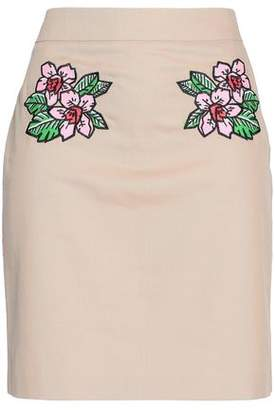 Love Moschino Embroidered Cotton-Blend Mini Skirt