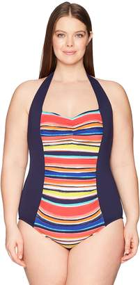 7a160c6cddf Anne Cole Women s Plus Size Striped One Piece Sexy Swimsuit