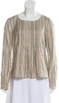 Akris Punto Silk Striped Top