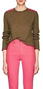 Rag & Bone WOMEN'S ROWAN MERINO WOOL SWEATER - DK. GREEN SIZE S