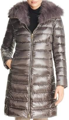 Herno Elisa Fox Fur-Collar Down Coat