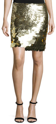 Trina Turk Kalina Sequin Mini Skirt, Gold $288 thestylecure.com