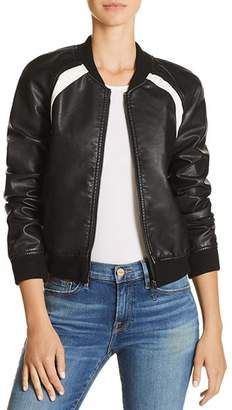 Joe's Jeans Paola Faux-Leather Bomber Jacket