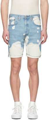Levi's Blue Denim 501 CT Shorts $70 thestylecure.com
