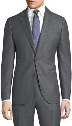 Neiman Marcus Micro-Dotted Two-Piece Wool Suit