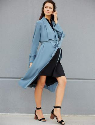 BCBGMAXAZRIA Pea Collection Samara Maternity Trench Coat