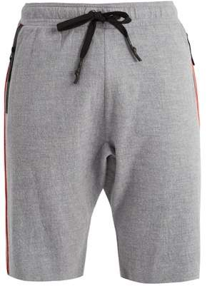 P.E Nation Bolter Contrasting Trim Wool Shorts - Mens - Grey Multi