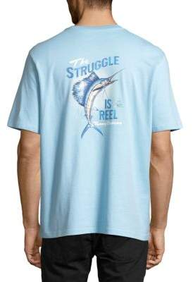 Tommy Bahama The Struggle Is Reel Graphic Tee