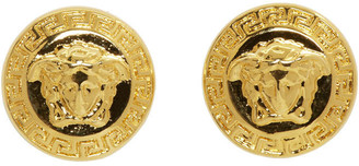 Versace Gold Medusa Stud Earrings $170 thestylecure.com