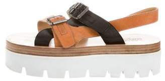 MM6 MAISON MARGIELA Leather Multi-Strap Sandals