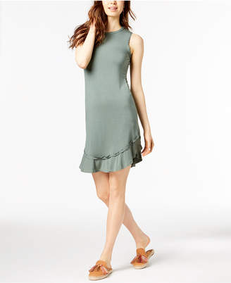 Maison Jules Ruffled-Hem A-Line Dress