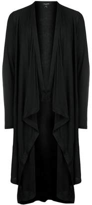 Unconditional draped long cardigan