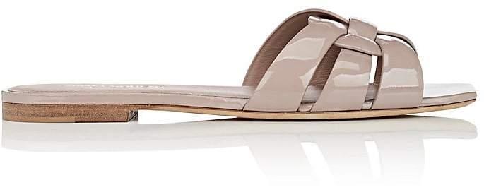Saint Laurent Women's Nu Pieds Patent Leather Slide Sandals