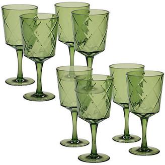 One Kings Lane Set of 8 Drazen Acrylic Goblet Set - Green