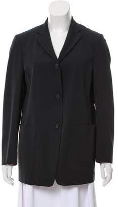 Burberry Wool Notched-Lapel Blazer