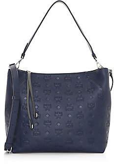 MCM Women's Klara Monogram Leather Hobo Bag