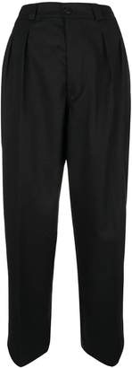 Dondup cropped paper bag trousers