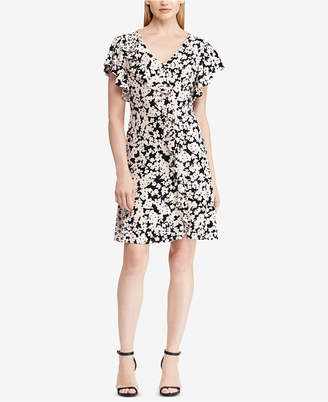 American Living Floral-Print Ruffle-Trim Dress