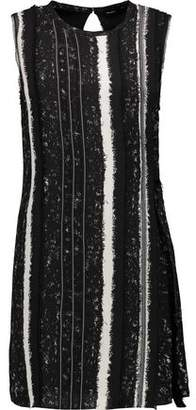 Proenza Schouler Fringe-Trimmed Striped Silk Mini Dress
