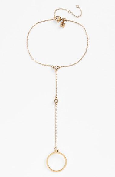 Rebecca Minkoff 'Jewel Box' Stone Hand Chain