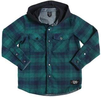Molo Hooded Plaid Flannel Shirt