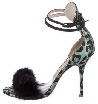 Sophia Webster Jacquard Ankle Strap Sandals