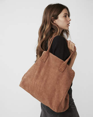 Express Genuine Suede Tote