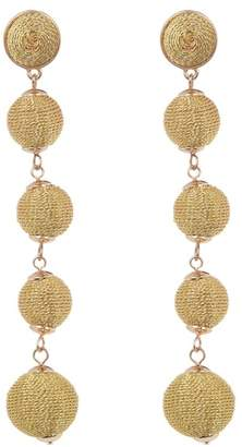 BaubleBar Eva Woven Wrapped Ball Drop Earrings