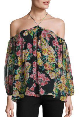 Ella Moss Jaeda Off-The-Shoulder Floral Top $168 thestylecure.com