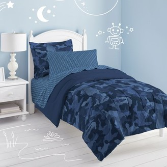 Factory Dream Geo Camo Full Comforter Set Blue
