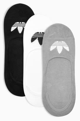 Next Mens adidas Originals Kids Black No Show Sock Three Pack
