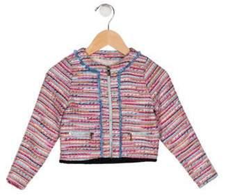 Karl Lagerfeld Paris Girls' Tweed Jacket multicolor Girls' Tweed Jacket