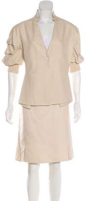 Akris Structured Skirt Suit