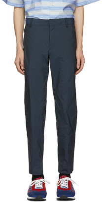 Prada Navy Fil-a-Fil Tech Trousers