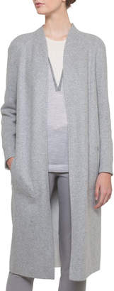 Akris Open-Front Reversible Silk Jersey Long Coat