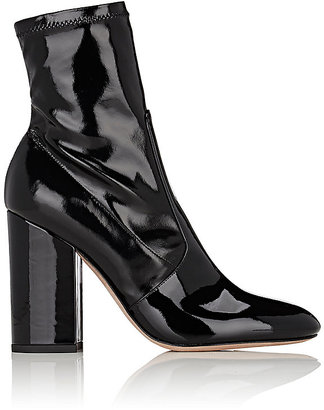 Valentino Women's Stretch-Patent-Leather Ankle Boots $945 thestylecure.com