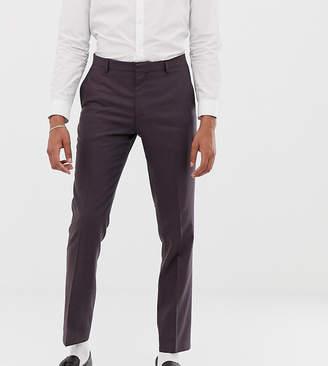 slim suit trousers in brown