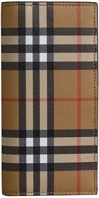 Burberry Vintage Check Leather Cavendish Continental Wallet