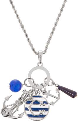 "C. Wonder Mulit-Charm Anchor Necklace with 31-1/2"" Chain"
