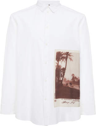 Oamc Postcard-Printed Long Sleeve Shirt