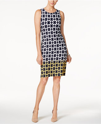 Charter Club Chain-Print Shift Dress, Only at Macy's $89.50 thestylecure.com
