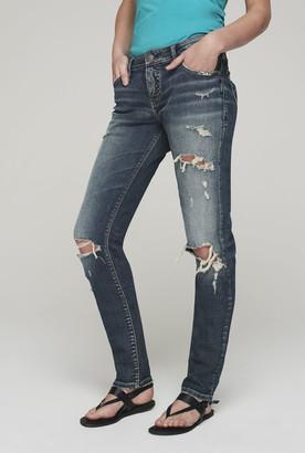 Silver Jeans Silver Kenni Girlfriend Ripped Jeans