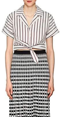Derek Lam 10 Crosby Women's Striped Cotton Poplin Crop Top