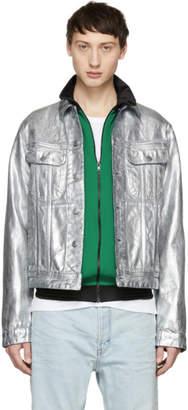 Acne Studios Silver Bla Konst Denim Tent Jacket