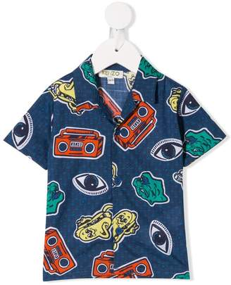 Kenzo cartoon print shirt