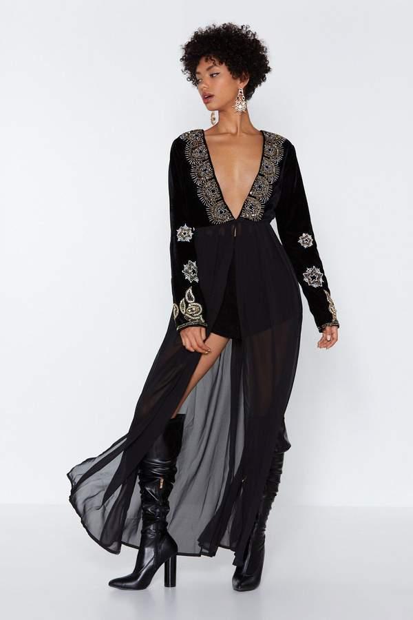 Bead 'Em and Weep Longline Dress